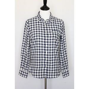 $60 J.Crew Womens Gingham Button Down Shirt Size S